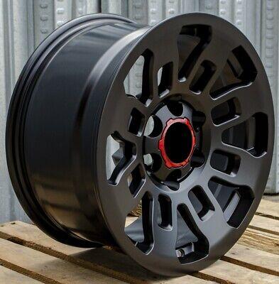 17x9 Matte Black Wheels Fits Toyota 4Runner Tacoma Pre Runner 6x139 Rims Set 4