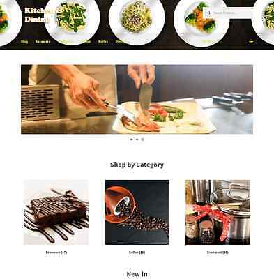 Amazon Affiliate Kitchen & Dining Website Business 1 Year FREE hosting & Domain for sale  USA