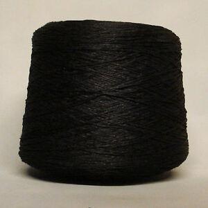 4 PLY TAPE CHAINETTE YARN - 1,000 GRAM - 1KG - 20 BALLS - JET BLACK ** BRAND NEW