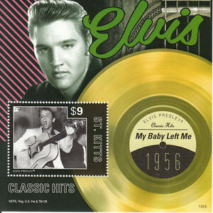 St-Kitts-2013-MNH-Elvis-Presley-Classic-Hits-I-1v-S-S-1956-My-Baby-Left-Me