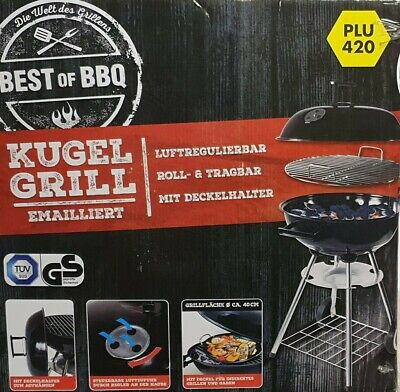 BEST OF BBQ Kugelgrill Emailliert / Holzkohlegrill Neu