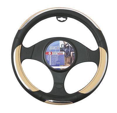 Sumex Branded Snake Soft PVC Car Steering Wheel Sleeve Cover - Beige & Black #69