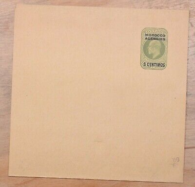 Morocco Agencies 5c Surcharged Mint Stationery Wrapper