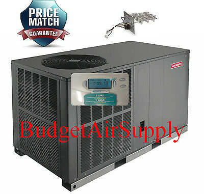 "3 Ton 13 soothsayer Goodman Heat Pump ""All in One"" Case segment GPH1336H41+Heat+Tstat"