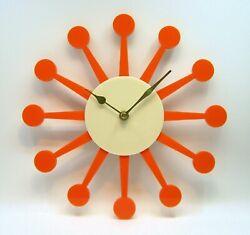 1950's Style wall clock Handmade Atomic Sunburst, 1960s USA, mid century, retro