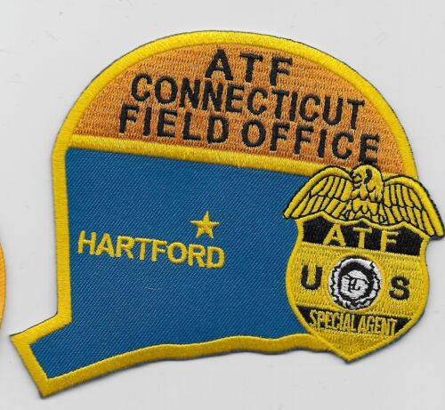 Neat State Shaped ATF Connecticut Police Sheriff state CT