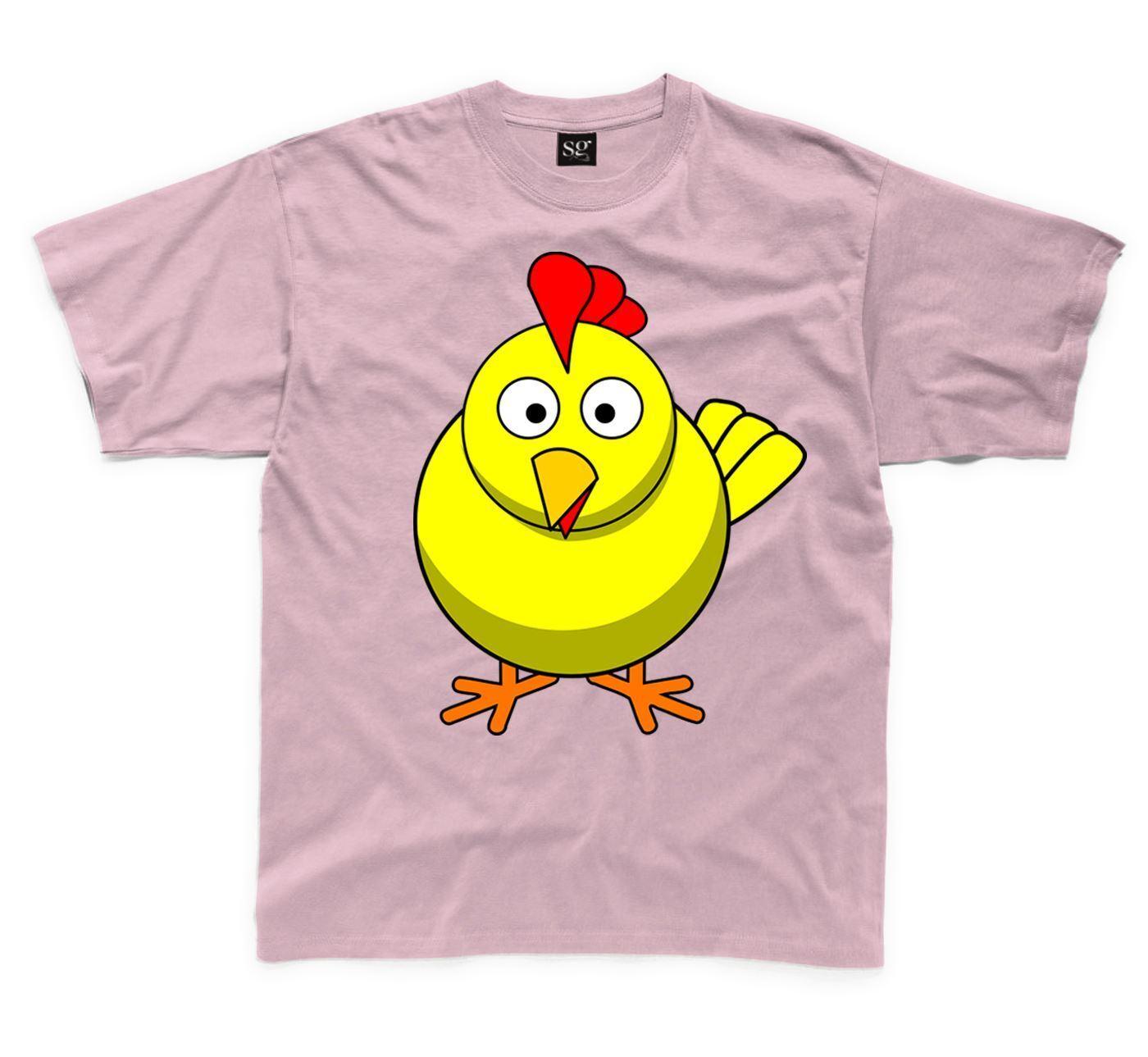 Cartoon Chicken Farm Yard Animal Children/'s Kid/'s Unisex T Shirt