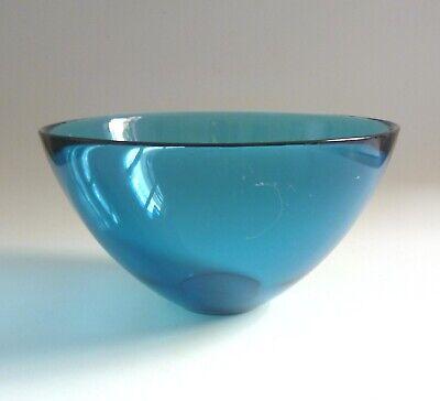 Sven Palmqvist 1954 Orrefors Sweden LARGE Blue Glass FUGA BOWL. 21cm - 8.25