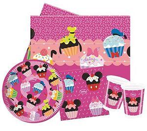 Minnie-Mouse-d-lish-Fiesta-GAMA-Disney-Cumpleanos-Platos-Tazas-Vajilla