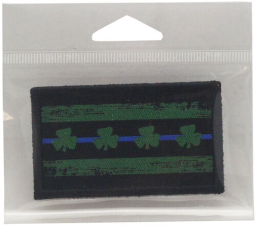 """Chicago Flag Blue Line Shamrock Patch DTG Approx. 3"""" x 1.75"""""""