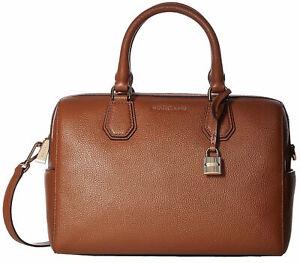 Michael Kors Mercer Pebbled Leather Duffel Bag Brown
