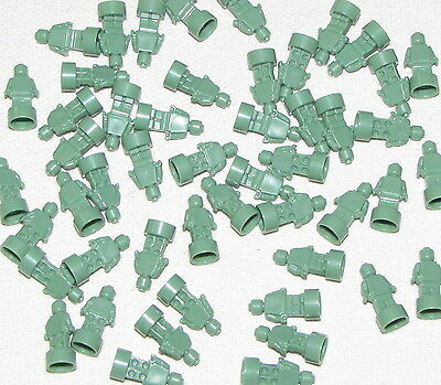 Lego Lot Of 50 New Small Sand Green Statues Trophy Statuette Pieces