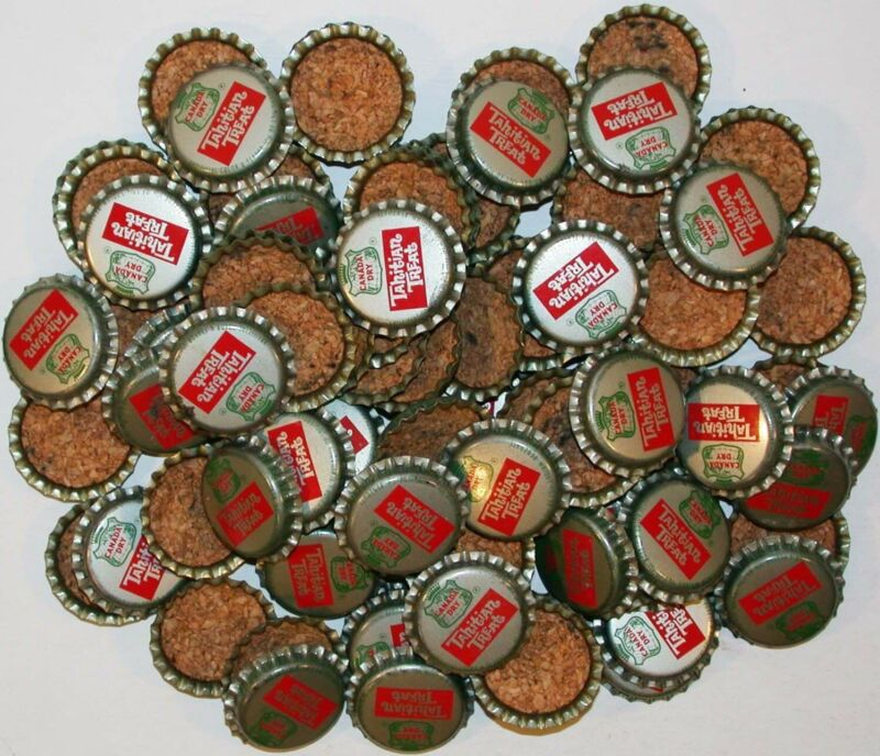 Soda pop bottle caps Lot of 100 CANADA DRY TAHITIAN TREAT cork new old stock