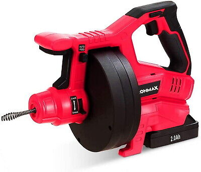 Drain Auger Automatic Cordless Lithium-ion Electric Drain Snake 34 To 2 Pipes