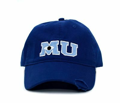 New Monsters MU University Hat Applique Royal Blue Baseball Cap Adult Curved - Mu Hat
