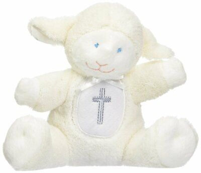 Mary Meyer Baby Rattle Soft Toy, Christening Lamb, 5""