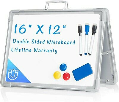 Magnetic Double-sided Desktop Dry Erase Board For School And Office 16 X 12