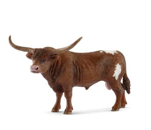 <>< Texas Longhorn Bull cow realistic 13866  Schleich Anywheres a Playground<><