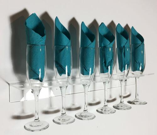 Acrylic Drink Glass Racks, Flute Glass Storage, Champagne Wall 5 glass