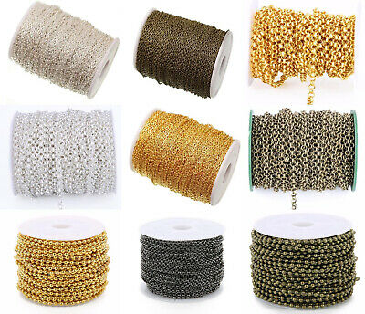 Chain Link Cable Beads - 5M / Roll Cable Open Link Chain 3x2mm,2.4mm Bead Chain,3.2BL Rolo Chain Diy