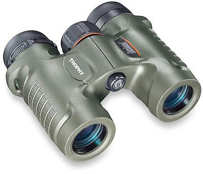 Bushnell Trophy 10x28mm Roof Prism Binoculars, Green, Box 332810