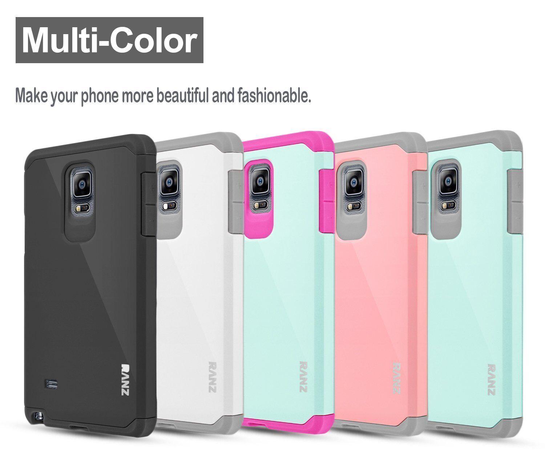 Купить RANZ - Samsung Galaxy Note 4 Case, Hard Impact Dual Layer Shockproof Bumper Case