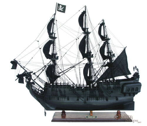 Black Pearl Pirate Ship Ready Display Wooden Ship Model 37""
