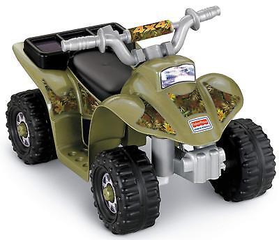 Power Wheels Electric Safe Toddler Friendly Kids Ride On Lil Quad ATV Car
