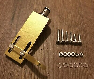 Gold Headshell - Gold HiFi CNC Machined Turntable Headshell, OFC Wires Gold Terminals