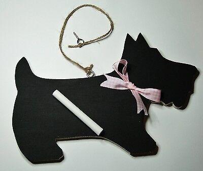 BLACK SCOTTIE DOG CHALKBOARD / BLACKBOARD WEDDING PARTY IDEAL FOR DOG LOVERS