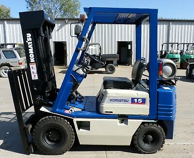 Komatsu Model Fg15ht-15 1994 3000 Lbs Capacity Great Pneumatic Tire Forklift