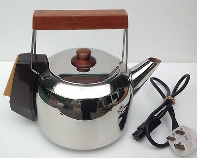 Vintage Retro Sona Automatic Kettle Wooden Handle 1970/1980s