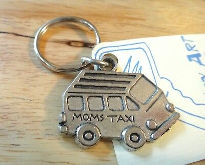 Clearance Pewter 33x37mm Mom's Van says Mom's Taxi on 27mm Keychain Keyring](Vans On Clearance)