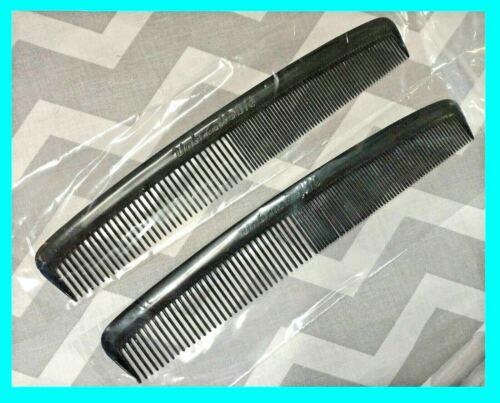 """2 Piece - 7"""" Unbreakable Black Plastic HAIR COMB Men's Salon"""