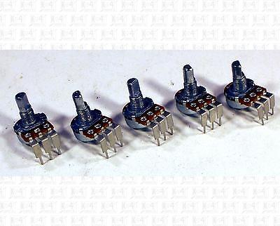 Alpha 10k Ohm Vertical Mount Pot Potentiometers B10k B10k Lot Of 5