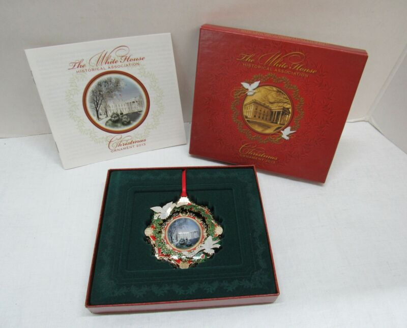 The White House Christmas Ornament 2013 Honoring Woodrow Wilson with Box