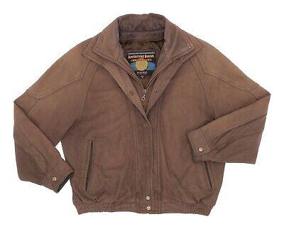 ADVENTURE BOUND  Leather Jacket M Medium Mens Double Collar Motorcycle Jacket