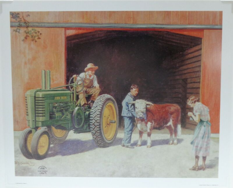 "Vintage Walter H. Hinton John Deere L/E Print #1939 ""Winners All"" Mint Condition"