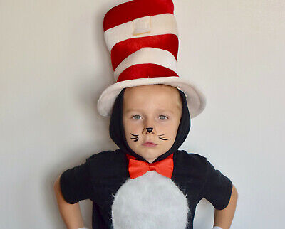 Dr. Seuss The Cat In The Hat Boy Girl Child Costume Halloween Sz S 4/5