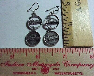 vintage Indian earrings motorcycle collectible biker chick lady rider jewelry