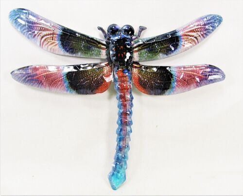 Dragonfly metal wall art hand painted home decor (B)