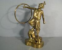 Statue Chinese Bronze / Sculpture Player Hoop Bronze/ Juggler Hoop -  - ebay.co.uk