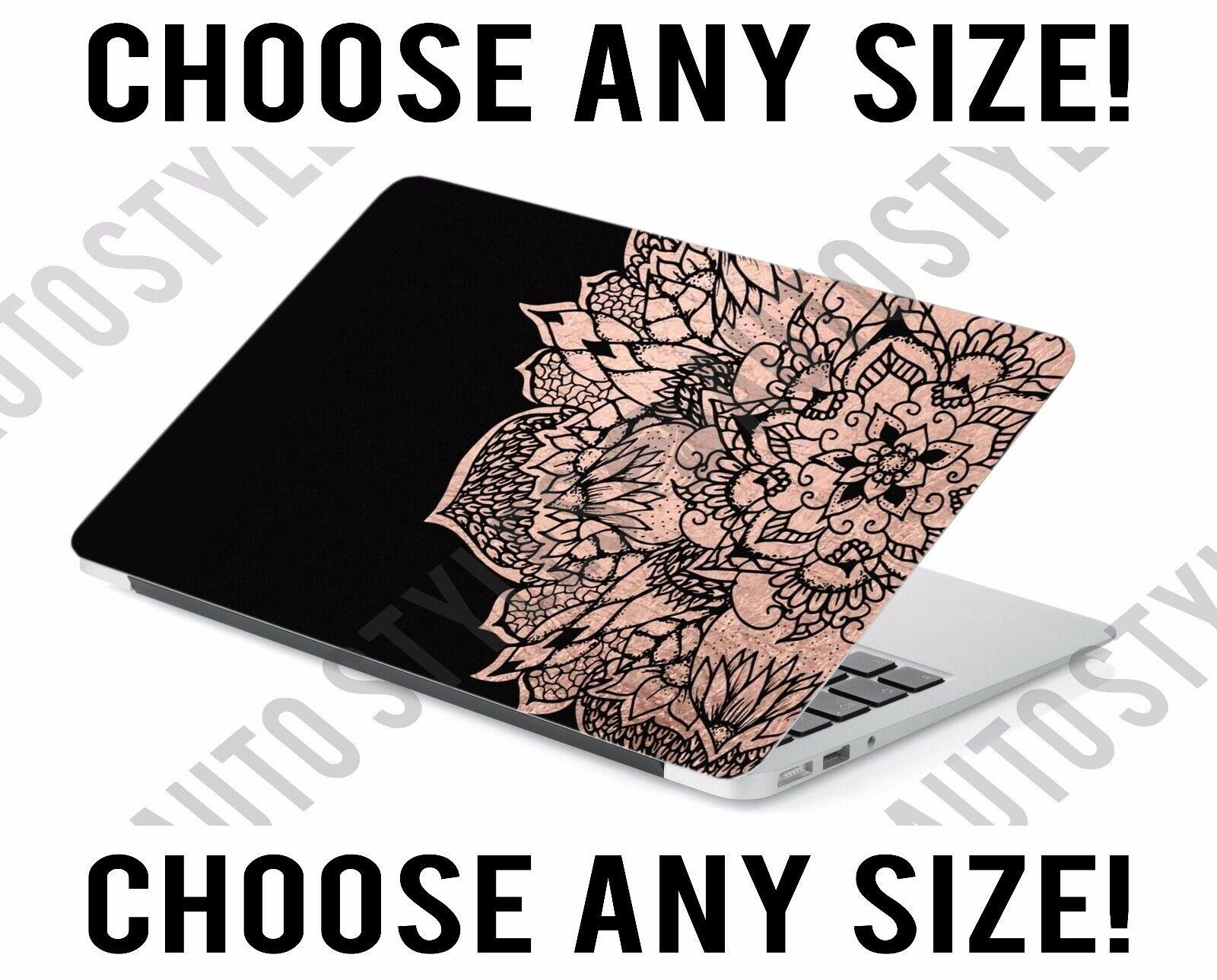 Rose Gold Medallion Bohemian Laptop Skin Decal Sticker Table