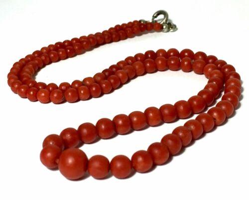 12 gram antique Natural red coral necklace
