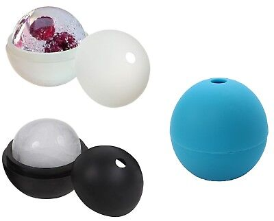 - 75mm Single Cavity Silicone Round Ice Cube Tray Ice Ball Maker Mold Round Sphere