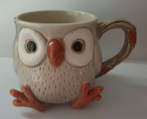 Vintage Retro Fitz and Floyd Owl Mug c.1978