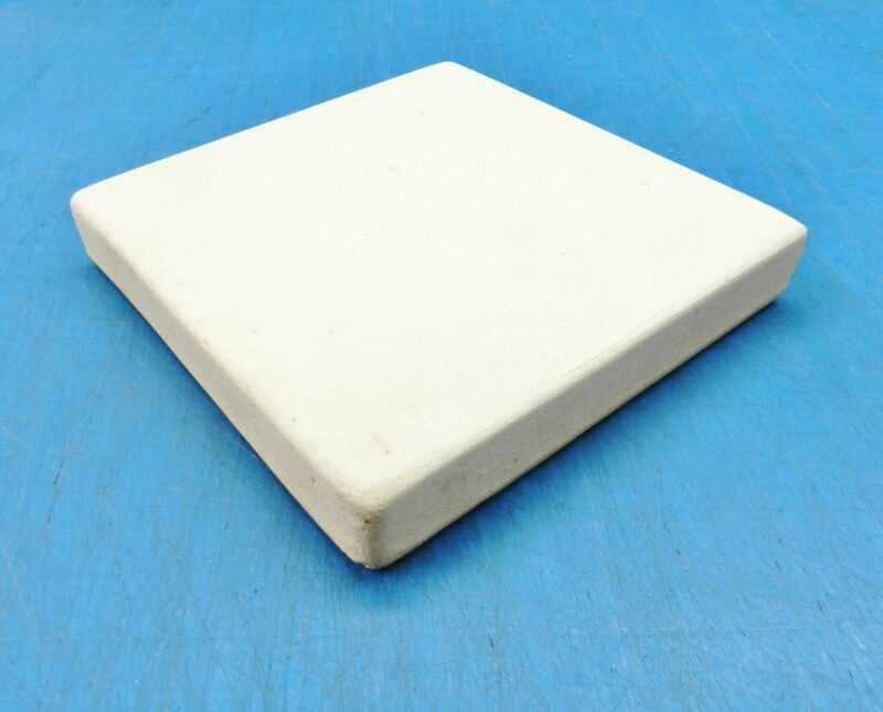 """CERAMIC BOARD SOLDERING HEAT PLATE JEWELRY BENCH 6""""x6"""" SQUARE TILE 1"""" THICK"""