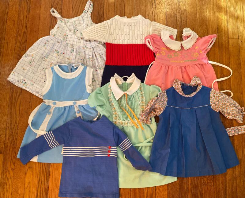 Vintage Child Toddler Girl Dress Lot As Is