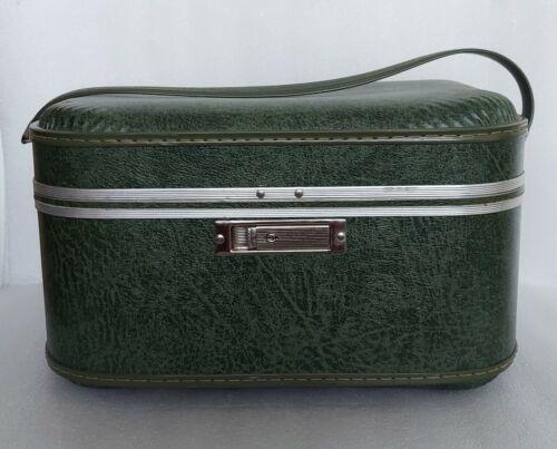 Vintage Amelia Earhart Train Case Luggage Suitcase Box Makeup Cosmetic Bag