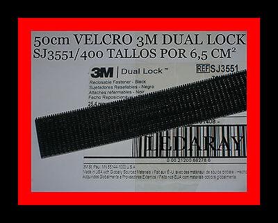 VELCRO 3M dual lock™ SJ3551 ADHESIVO / LARGO:50cm X ANCHO:25,4mm / 400TALLOS